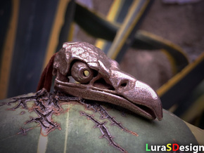 Vulture Skull in Polished Bronzed Silver Steel: Medium