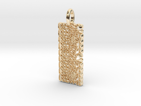 Dicot Leaf Anatomy Pendant in 14k Gold Plated Brass