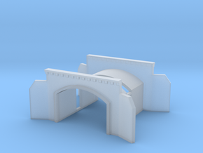 Tunnel portal two track - T scale 1:450 in Smooth Fine Detail Plastic