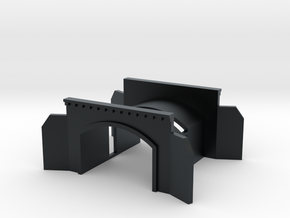 Tunnel portal two track - T scale 1:450 in Black Hi-Def Acrylate