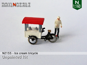 Ice cream tricycle (N 1:160) in Smooth Fine Detail Plastic