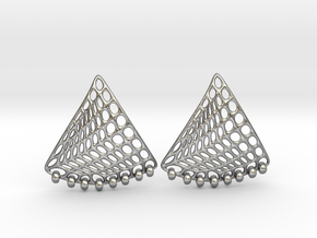 Baumann Swing Earrings in Natural Silver (Interlocking Parts): Small