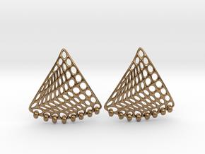 Baumann Swing Earrings in Interlocking Raw Brass: Small
