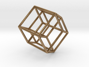Tesseract 2 in Natural Brass