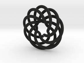 Endless Loop Pendant in Black Natural Versatile Plastic