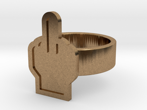 Middle Finger Ring in Natural Brass: 8 / 56.75