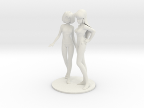 1/6 Ranka and Minmay in Swimsuit in White Natural Versatile Plastic