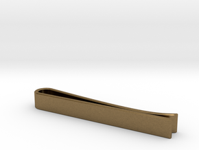 Beveled Edge Tie Clip - Classic Design in Natural Bronze