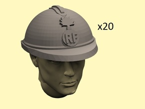 28mm WW1 French Helmets in Frosted Extreme Detail