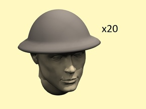 28mm WW1 Brodie dish helmet in Frosted Extreme Detail