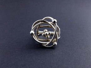 Atomic Model Ring - Science Jewelry in Polished Silver: 7 / 54