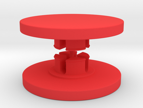 Customisable Fidget Spinner Caps for 608 Bearings in Red Processed Versatile Plastic