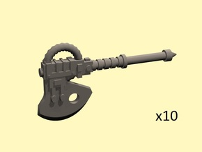 28mm Terebratus powered axes in Smoothest Fine Detail Plastic