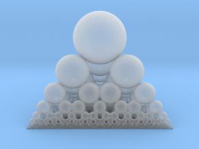 Spheres Sierpinski Tetrahedron in Smooth Fine Detail Plastic