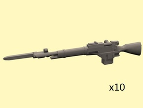 28mm Steampunk Mosin M1891 laser rifles w bayonett in Smoothest Fine Detail Plastic