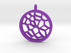 Dreamcatcher Pendant in Purple Processed Versatile Plastic