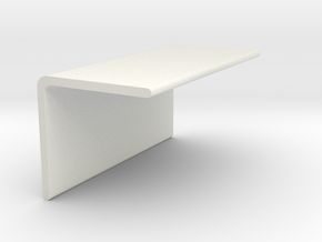90 Degree Bracket-short in White Natural Versatile Plastic