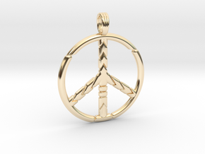 PEACE SYMBOL 2015 in 14K Yellow Gold