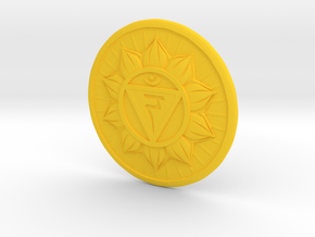 SOLAR PLEXUS Chakra or Manipura in Yellow Processed Versatile Plastic