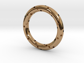 Spiral Ring in Polished Brass: 8 / 56.75