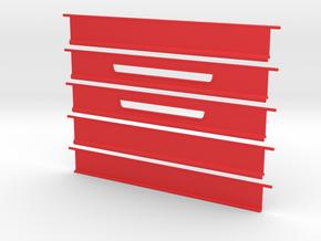 Shutter Door for slotcar garage (1/43) in Red Processed Versatile Plastic