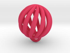 Spiral Elastic Band in Pink Processed Versatile Plastic