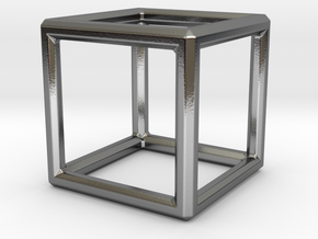 Hexahedron LG in Polished Silver