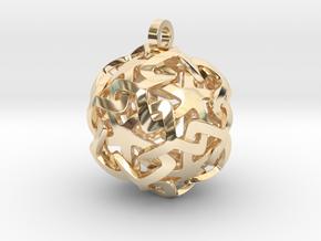 12-Stars sphere pendant in 14k Gold Plated Brass
