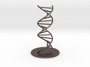 DNA Molecule Model Ladder. Sizes. in Polished Bronzed Silver Steel: 1:10