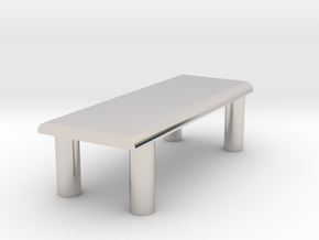 Just A Table in Rhodium Plated Brass
