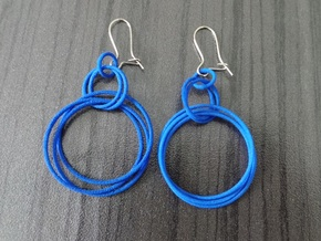 Earrings Loops Smaller - 2 Pcs in White Natural Versatile Plastic