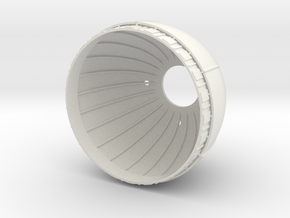 Star Destroyer Engine Bell (60mm) in White Strong & Flexible