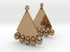 Egyptian Earrings in Polished Brass: Small