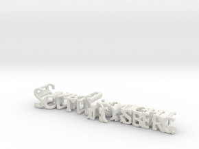 3dWordFlip: ScottGrossberg/DarkKnight in White Strong & Flexible