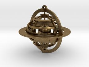 Celestial Globe in Natural Bronze (Interlocking Parts)