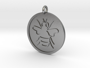 Bee Pendant in Natural Silver