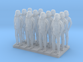 1l144 Base Thickened Troopers X 12 in Smooth Fine Detail Plastic