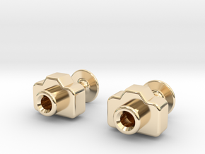 Mini DSLR Camera - Cufflinks in 14K Yellow Gold