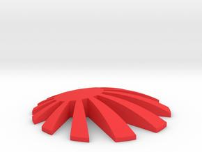 350Z Rising Sun Badge Middle  in Red Processed Versatile Plastic
