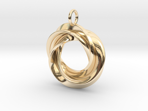 Roebius pendant with loop in 14k Gold Plated Brass