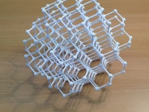 diamond lattice in White Natural Versatile Plastic