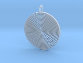 Minimalist Spiral Pendant in Smooth Fine Detail Plastic