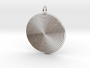 Minimalist Spiral Pendant in Rhodium Plated Brass