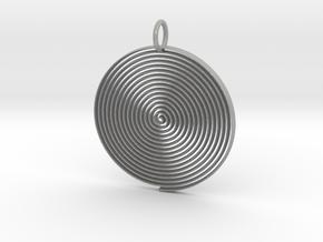 Minimalist Spiral Pendant in Aluminum