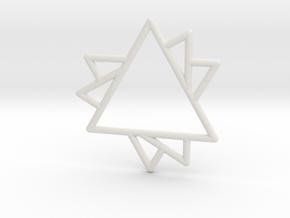 60 Degree Pendant in White Natural Versatile Plastic