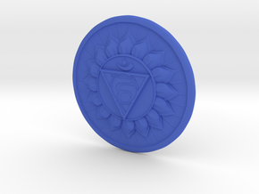 Throat Chakra or Vishuddha in Blue Processed Versatile Plastic