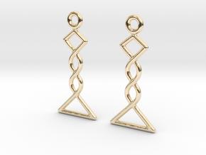Celtic Weave Earrings - WE031 in 14k Gold Plated Brass
