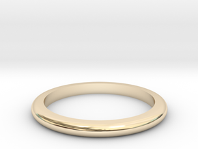 Medium Band  in 14k Gold Plated Brass: 6 / 51.5