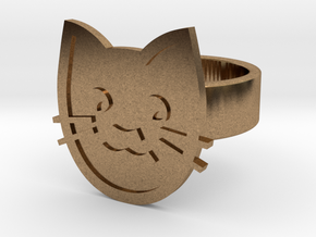 Cat Ring in Natural Brass: 8 / 56.75