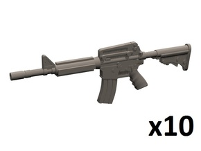 1/48 M4A1 carbines in Smoothest Fine Detail Plastic